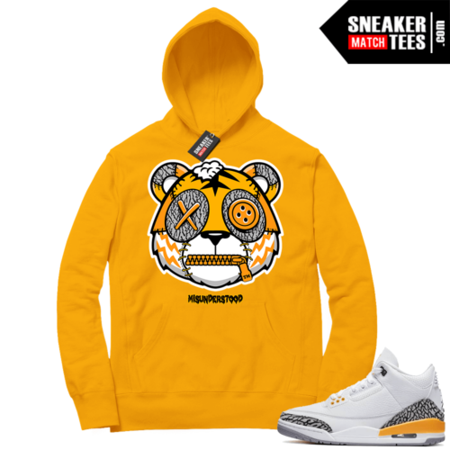 Misunderstood Tiger ™ Laser Orange 3s Gold Hoodie