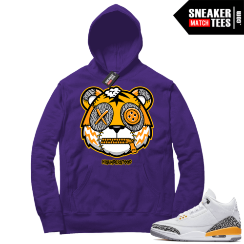 Misunderstood Tiger ™ Laser Orange 3s Purple Hoodie