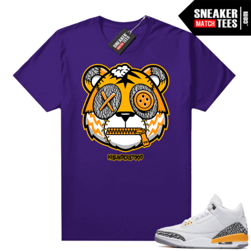 Misunderstood Tiger ™ Laser Orange 3s Purple Sneaker Match Tees