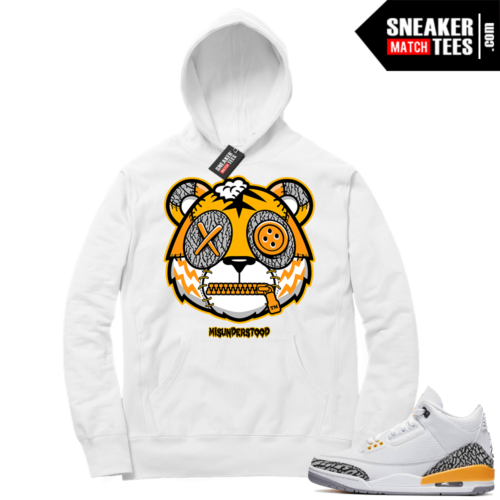 Misunderstood Tiger ™ Laser Orange 3s White Hoodie
