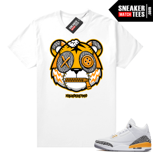 Misunderstood Tiger ™ Laser Orange 3s White Sneaker Match Tees
