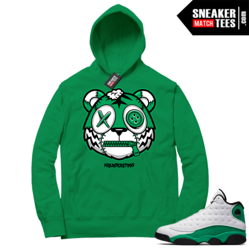 Misunderstood Tiger ™ Lucky 13s Green Hoodie