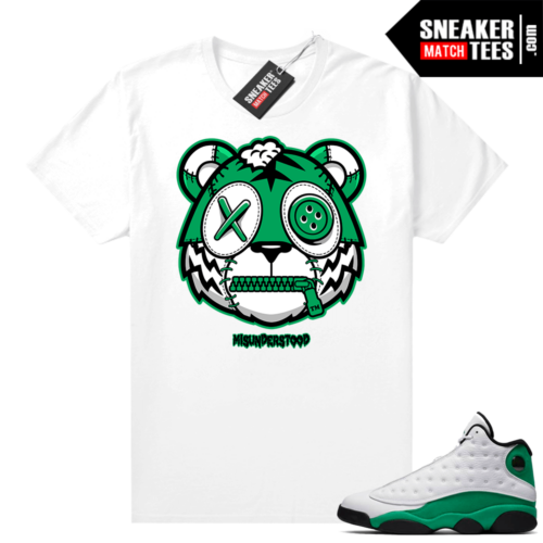 Misunderstood Tiger ™ Lucky Green 13s White Sneaker Match Tees