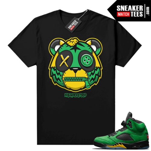 Misunderstood Tiger ™ Oregon 5s Black Sneaker Match Tees