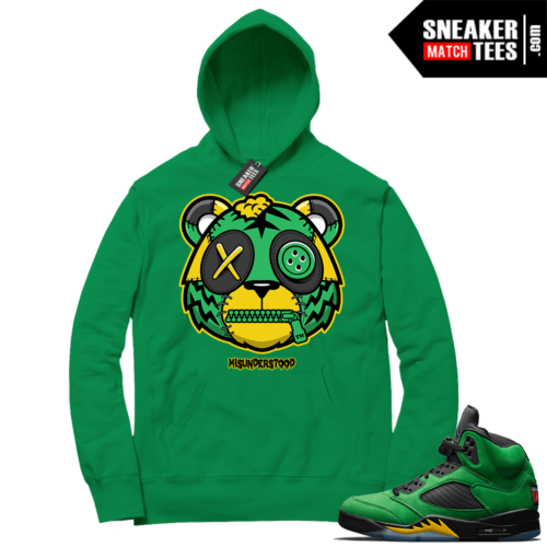 Misunderstood Tiger ™ Oregon 5s Green Hoodie