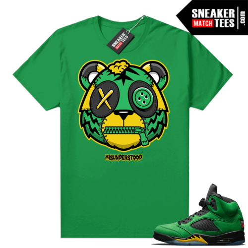 Misunderstood Tiger ™ Oregon 5s Green Sneaker Match Tees