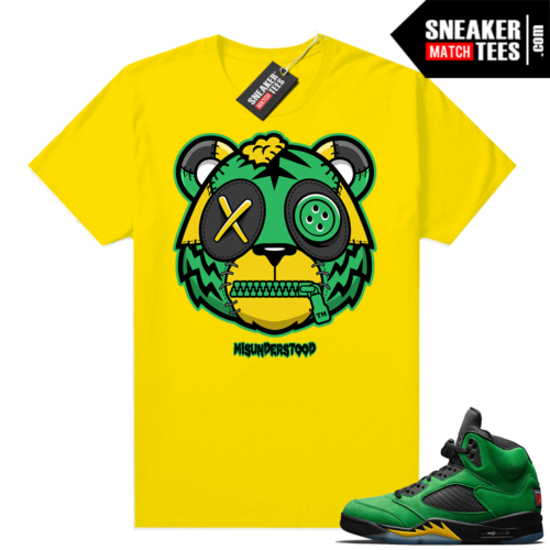 Misunderstood Tiger ™ Oregon 5s Yellow Sneaker Match Tees