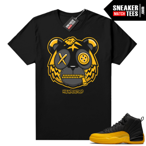 Misunderstood Tiger ™ University Gold 12s Black Sneaker Match Tees