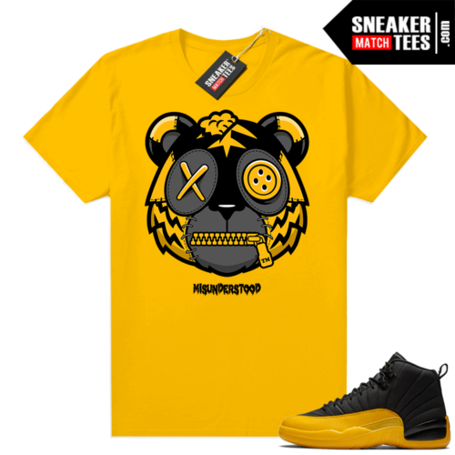 Misunderstood Tiger ™ University Gold 12s Yellow Sneaker Match Tees