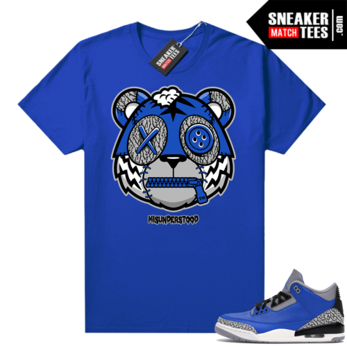 Misunderstood Tiger ™ Varsity Blue 3s Royal Sneaker Match Tees