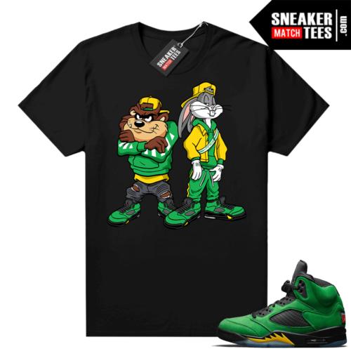 Jordan match sneaker tee Apple Green 5s