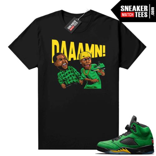 Jordan 5 Apple Green Matching tee