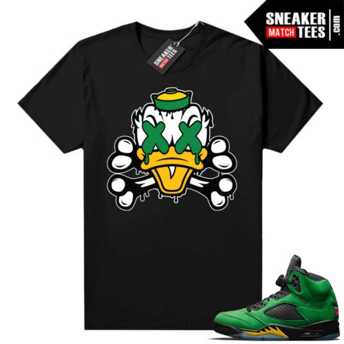Jordan sneaker tees Apple Green 5s