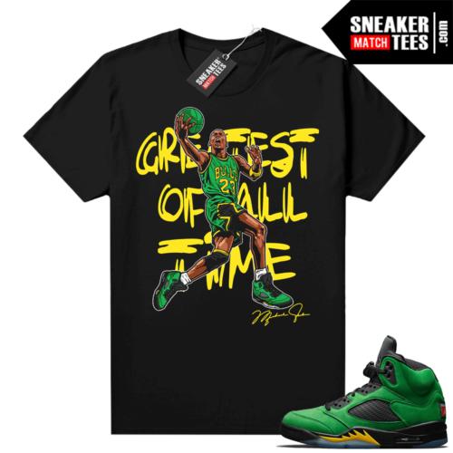 Jordan 5 Apple Green Sneaker tees