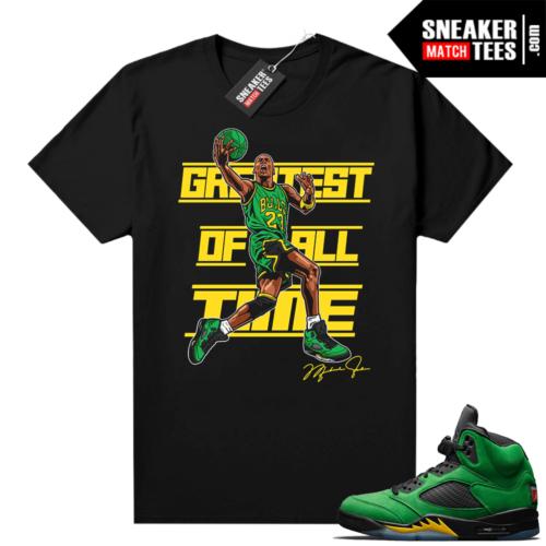 Jordan 5 Apple Green Sneaker shirt