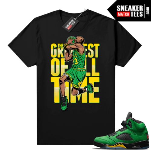 Oregon 5s sneaker shirts