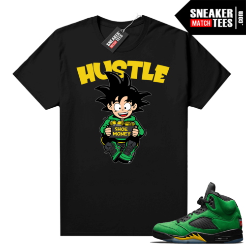 Oregon 5s Sneaker tees Black Hustle Shoe Money