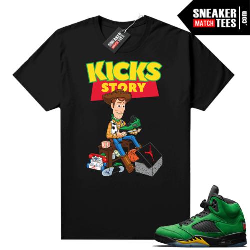 Sneaker tee to match Jordan retro 5 Apple Green