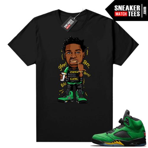 Apple Green Jordan 5 shirts