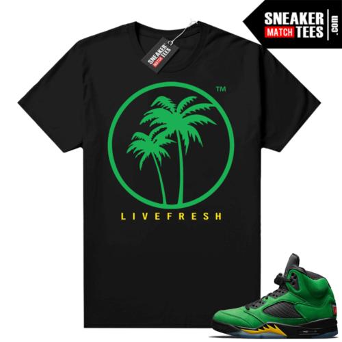 Jordan retro 5 Oregon shirts