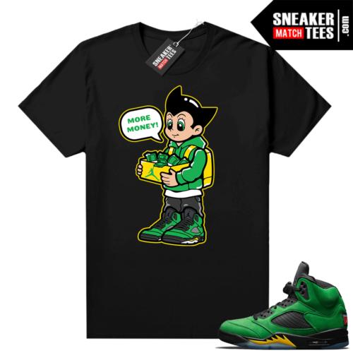 Air Jordan 5 shirts Apple Green