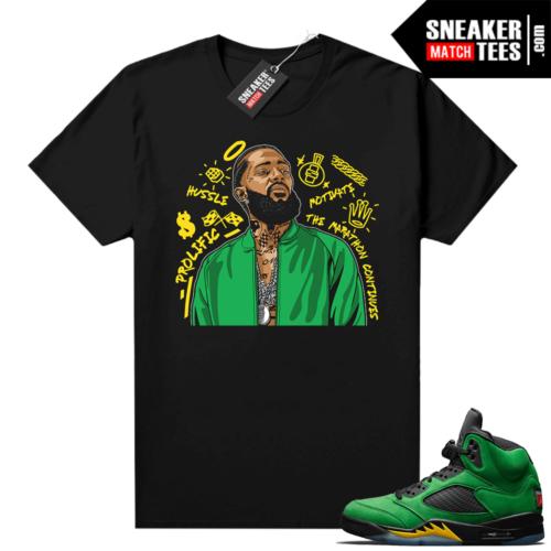 Match Apple Green 5s sneaker shirts
