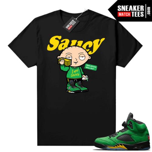 Jordan 5 shirts Apple Green