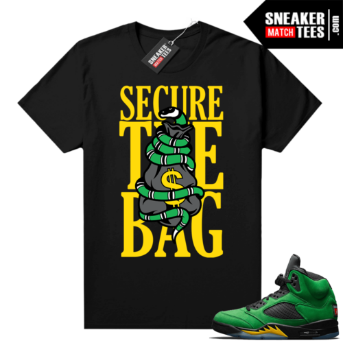 Air Jordan 5 sneaker tees Apple Green