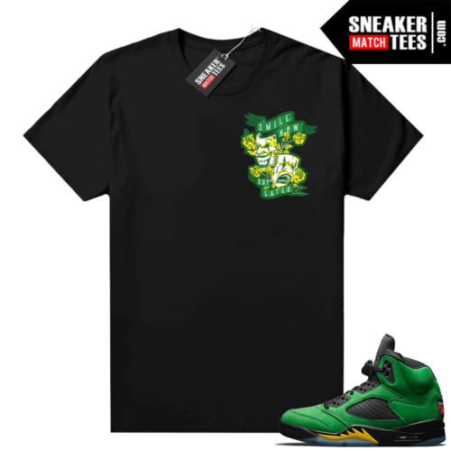 Air Jordan retro 5 Oregon sneaker tees