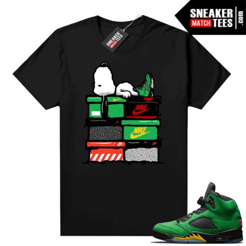 Shirts to match Jordans 5 Apple Green