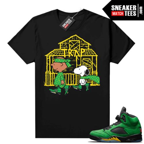 Jordan 5 Apple Green sneaker match tees