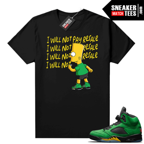Graphic tees matching Apple Green 5s