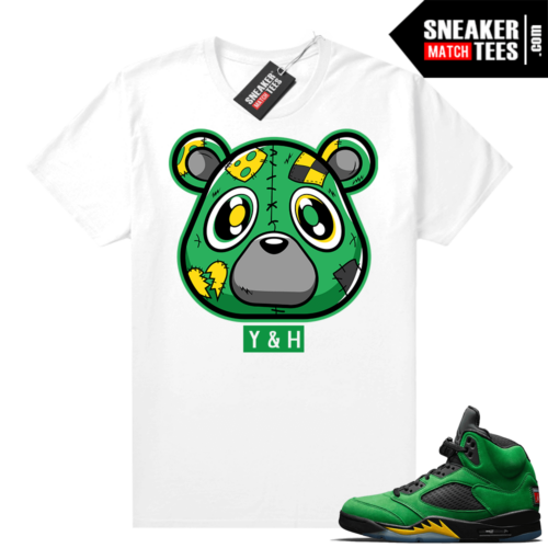 Jordan 5 Oregon sneaker match tees