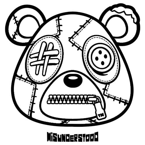 Sneaker tees Misunderstood Bear