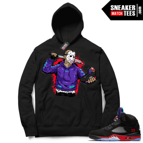 Top 3 5s Sneaker Hoodie Black Finesse Jason Cop