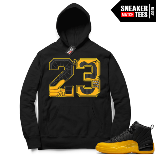 University Gold 12s sneaker Hoodie outfits