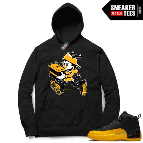 University Gold 12s sneaker Hoodie
