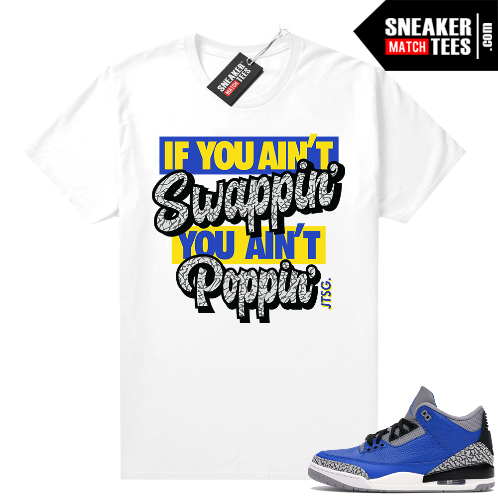 Varsity Blue Cement 3s shirt outfit