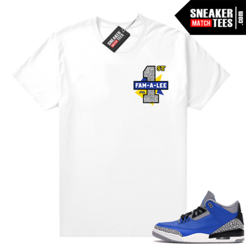 Varsity Blue Cement 3s matching shirt