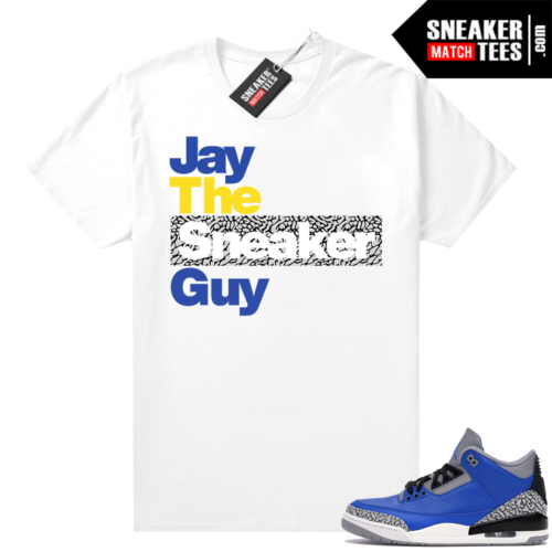 Varsity Blue Cement 3s sneaker shirts