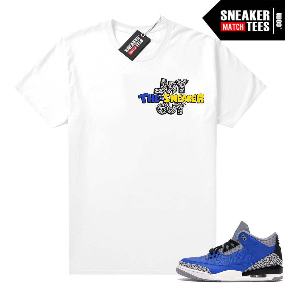 Varsity Blue Cement 3s match shirts