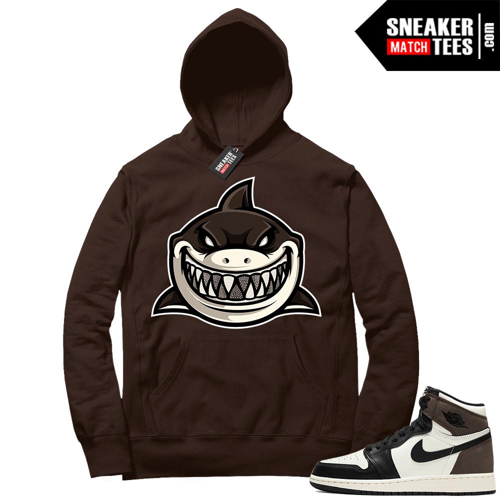 Jordan 1 Mocha Hoodie Chocolate Shark Gang