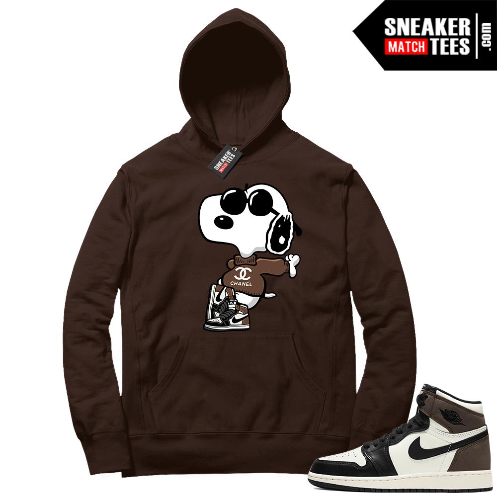Jordan 1 Mocha Hoodie Fly Snoopy
