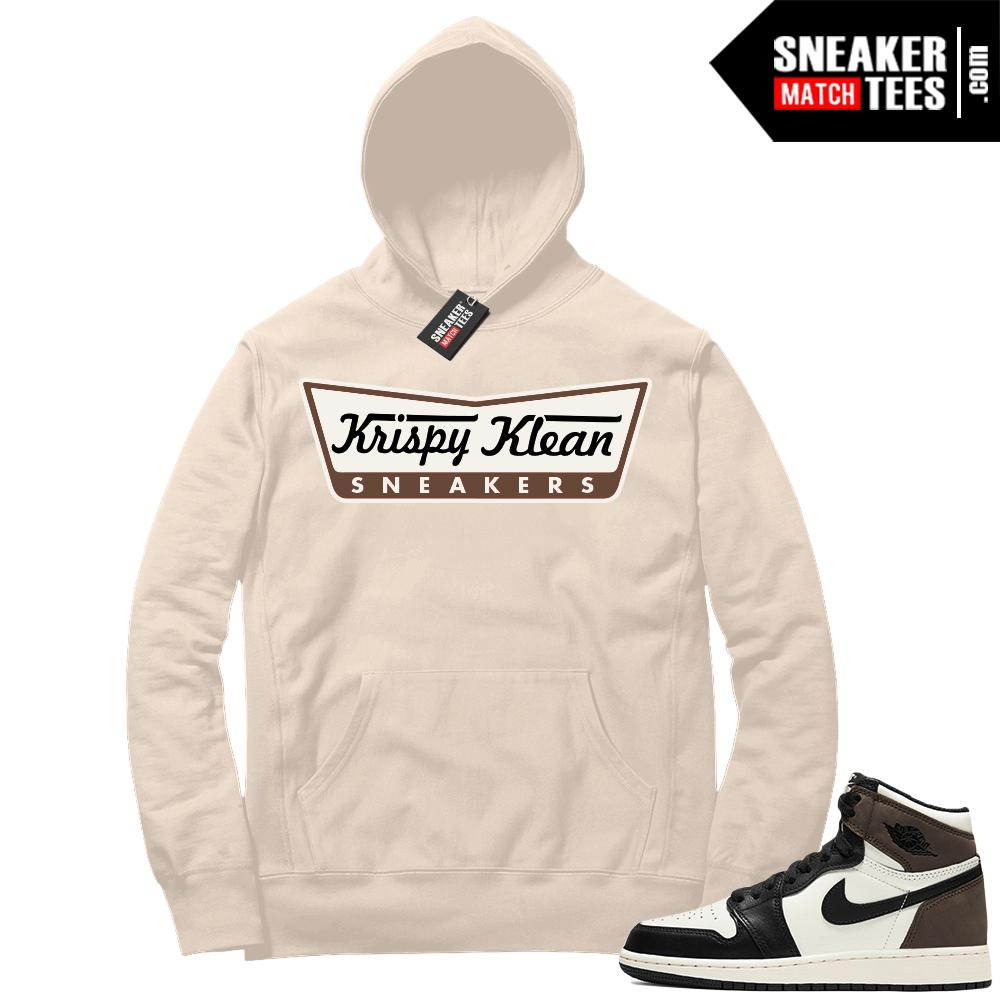 Jordan 1 Mocha Hoodie Sail Krispy Klean Sneakers