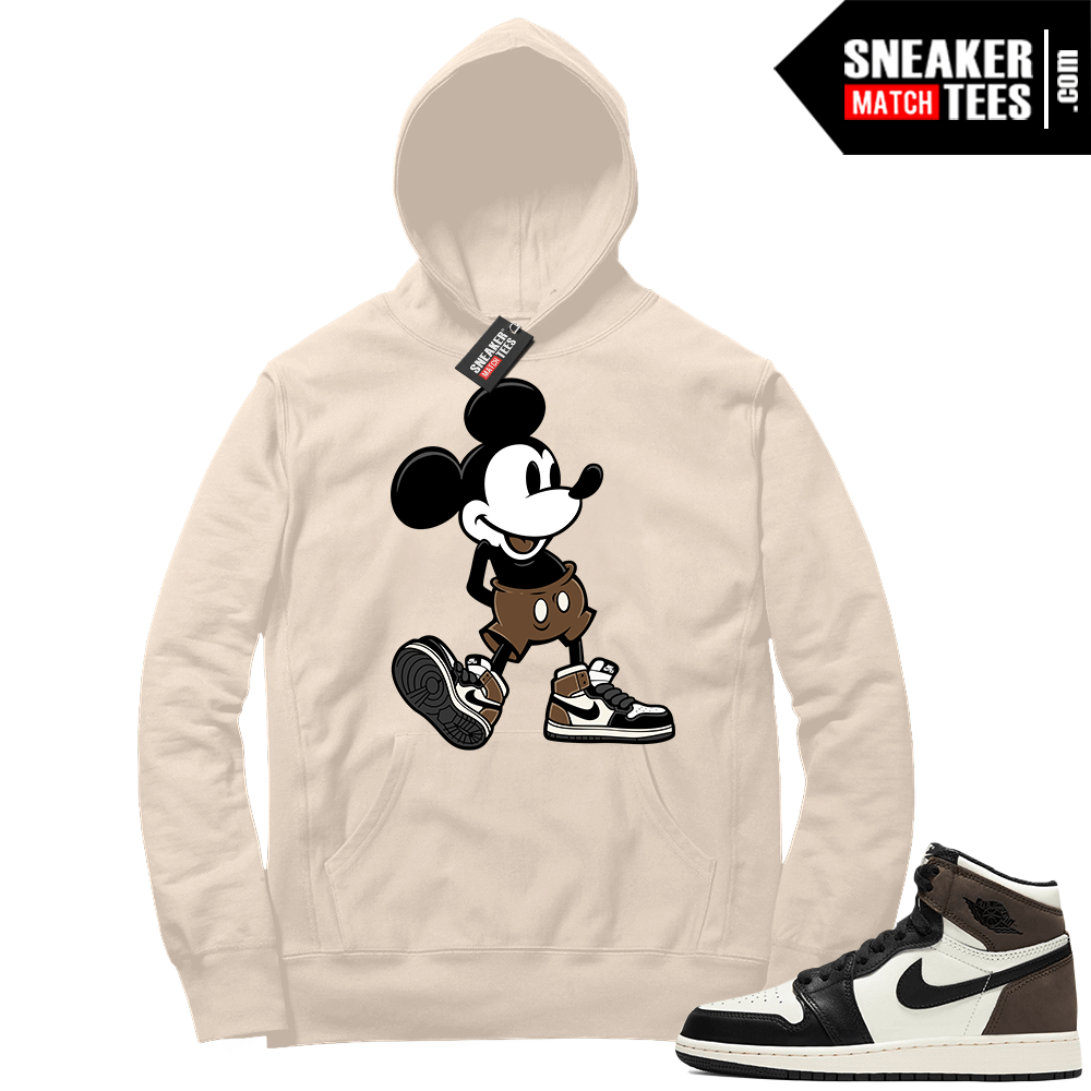 Jordan 1 Mocha Hoodie Sail Sneaker Head Mickey