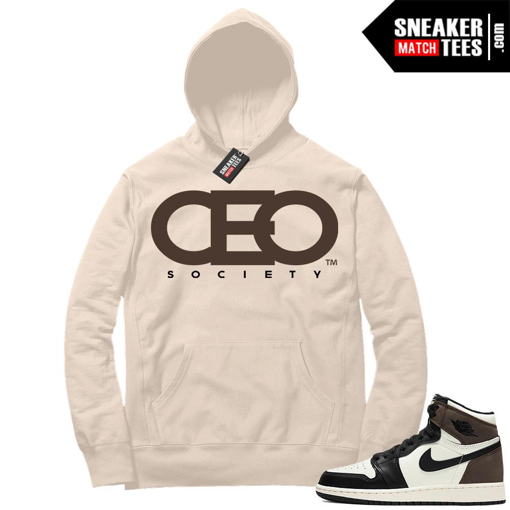 Jordan 1 Mocha Hoodie Sail Sneakerhead CEO Society