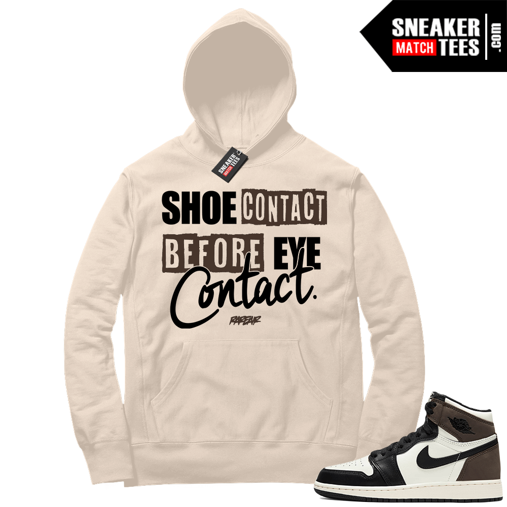 Jordan 1 Mocha Hoodie Sail Sneakerhead Shoe Contact