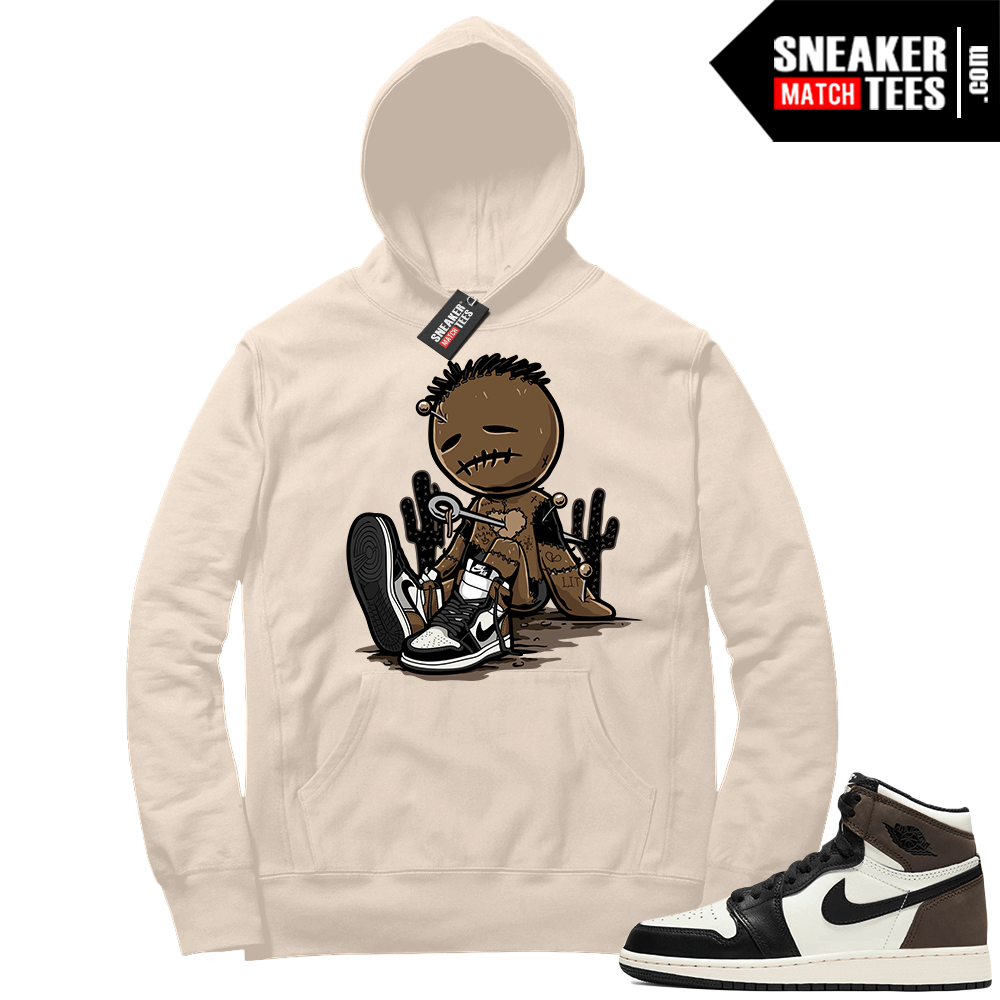 Jordan 1 Mocha Hoodie Sail Sneakerhead Voodoo Doll