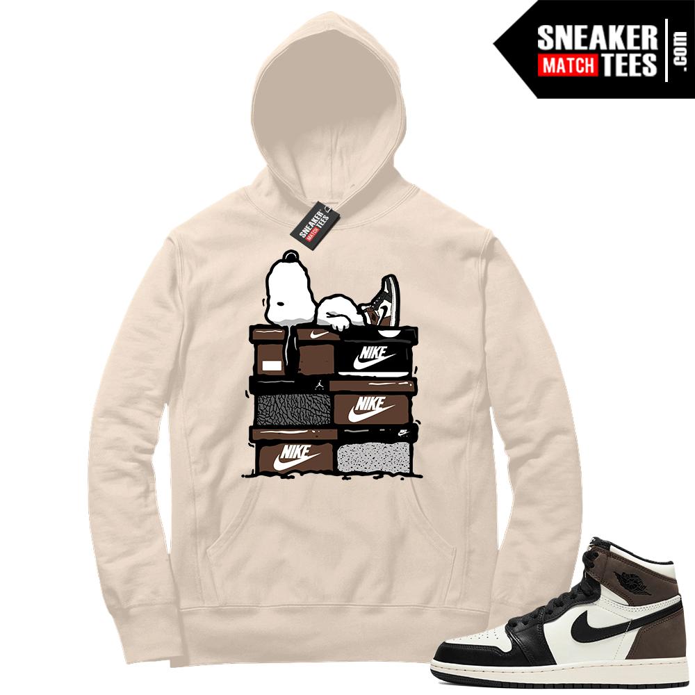 Jordan 1 Mocha Hoodie Sail Snoopy Sneakerhead