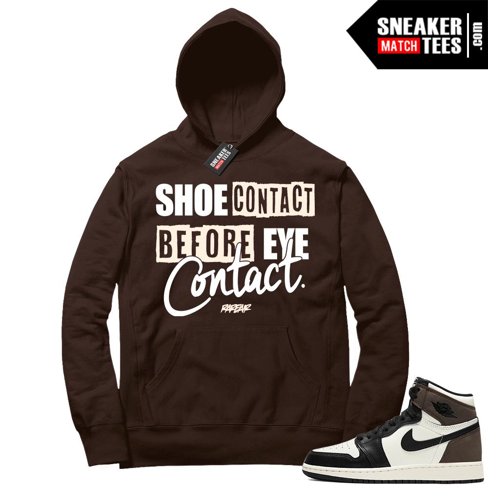 Jordan 1 Mocha Hoodie Shoe Contact